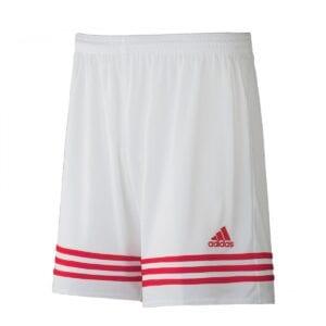 Short Adidas Entrada bianco-rosso