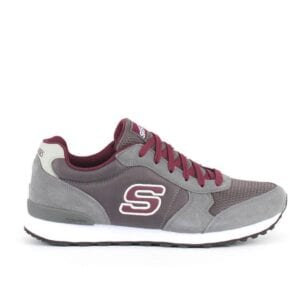 Scarpa Skechers uomo Early Grab grigio/bordo'