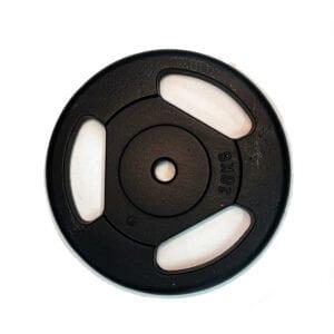 Disco ghisa da 10 chili con prese a maniglia prodotto in italia