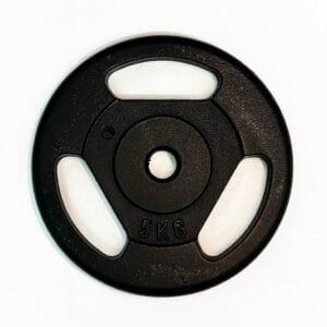 Disco ghisa da 5 chili con prese a maniglia prodotto in italia
