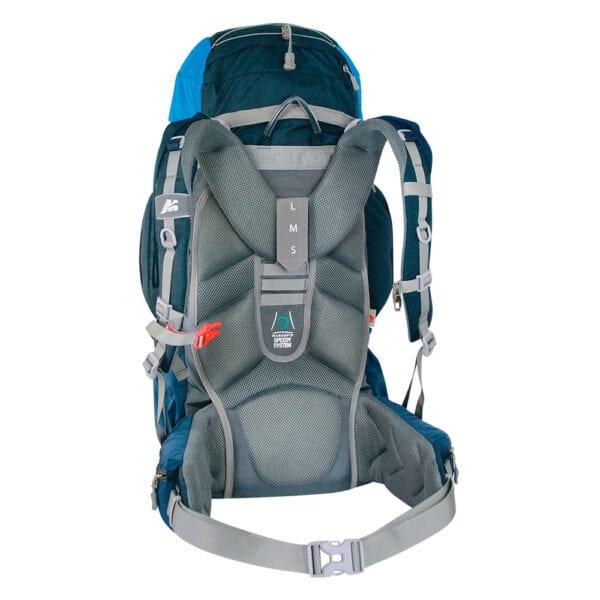 zaino NETTUNO 55 escursionismo viaggi scout bastino regolabile altezza